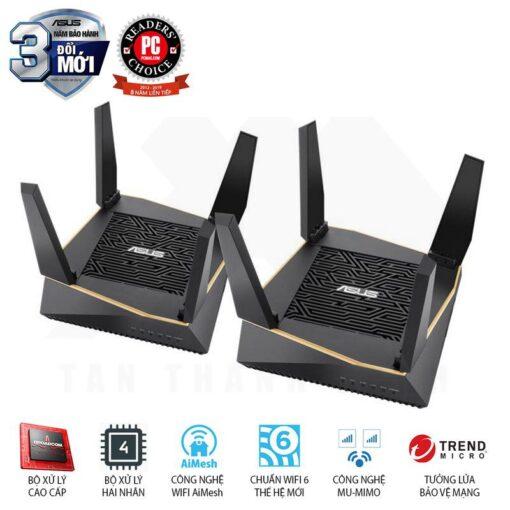 ASUS AiMesh AX6100 WiFi System RT AX92U 2 Pack 2019 08 1