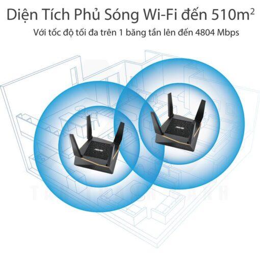 ASUS AiMesh AX6100 WiFi System RT AX92U 2 Pack 2019 08 3