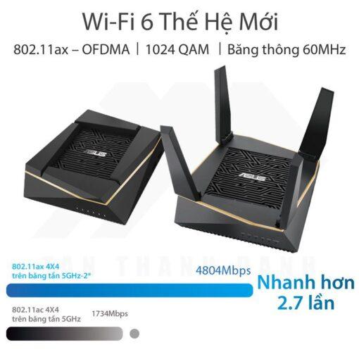 ASUS AiMesh AX6100 WiFi System RT AX92U 2 Pack 2019 08 4