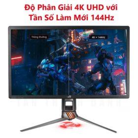 ASUS ROG PG27UQ 27 Inch Man hinh choi game 4K UHD 144Hz G Sync HDR Quantum dot IPS Aura Sync 3
