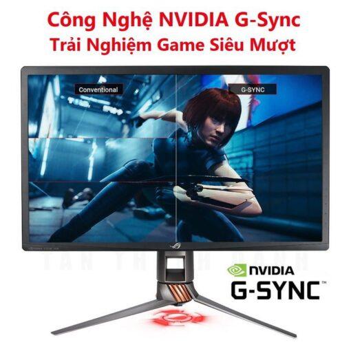 ASUS ROG PG27UQ 27 Inch Man hinh choi game 4K UHD 144Hz G Sync HDR Quantum dot IPS Aura Sync 4