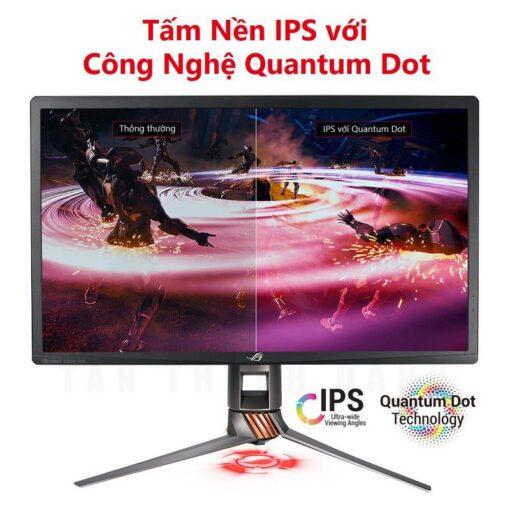 ASUS ROG PG27UQ 27 Inch Man hinh choi game 4K UHD 144Hz G Sync HDR Quantum dot IPS Aura Sync 6