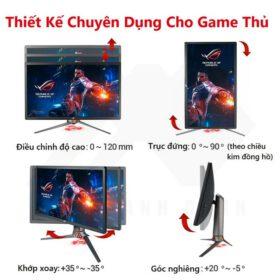 ASUS ROG PG27UQ 27 Inch Man hinh choi game 4K UHD 144Hz G Sync HDR Quantum dot IPS Aura Sync 7
