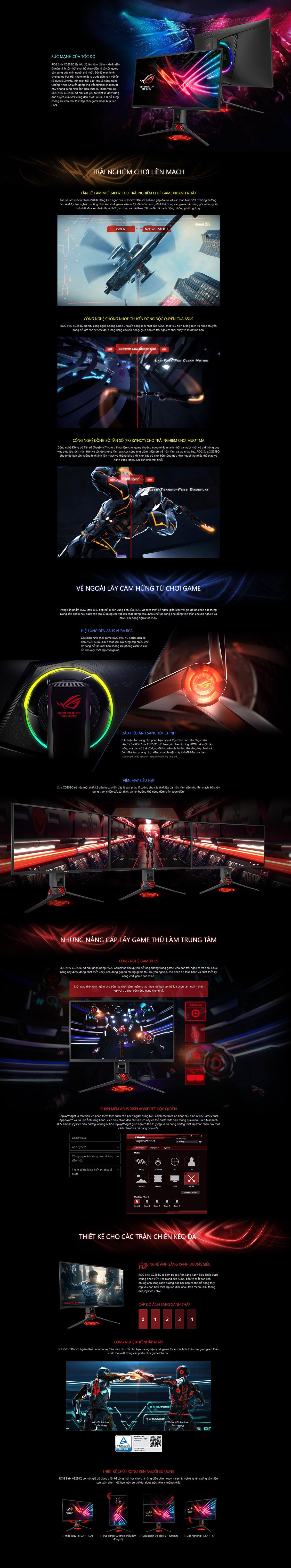ASUS ROG Strix XG258Q Gaming Monitor Details