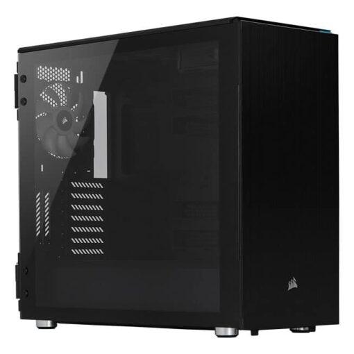CORSAIR Carbide Series 678C Low Noise Tempered Glass Case – Black 1