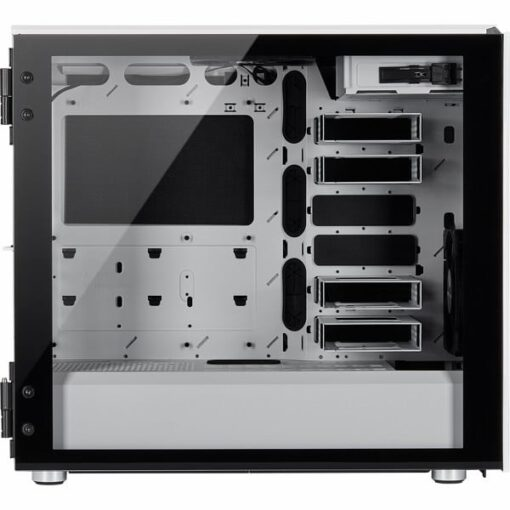 CORSAIR Carbide Series 678C Low Noise Tempered Glass Case – White 5