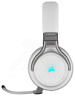 CORSAIR VIRTUOSO RGB Wireless HiFi Gaming Headset White 2