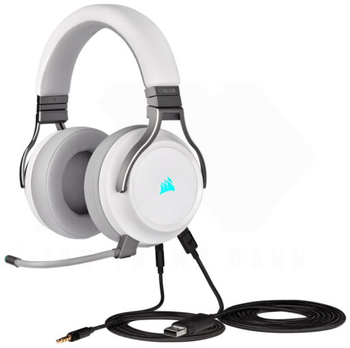 CORSAIR VIRTUOSO RGB Wireless HiFi Gaming Headset White 4