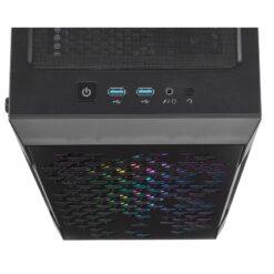 CORSAIR iCUE 220T RGB Airflow Tempered Glass Smart Case – Black 6