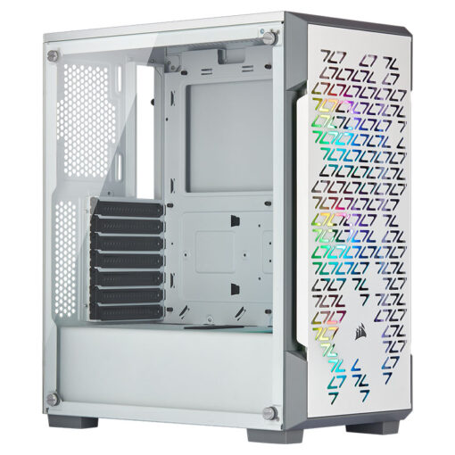 CORSAIR iCUE 220T RGB Airflow Tempered Glass Smart Case – White 1