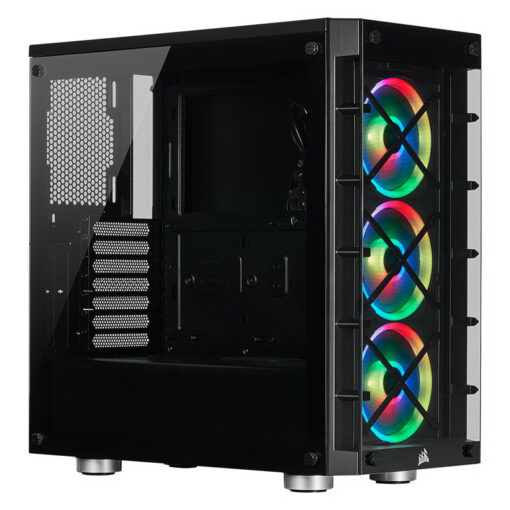 CORSAIR iCUE 465X RGB Airflow Tempered Glass Smart Case Black 1