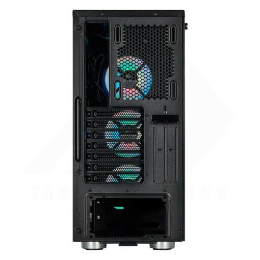 CORSAIR iCUE 465X RGB Airflow Tempered Glass Smart Case Black 4