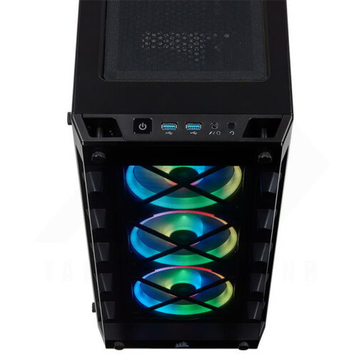 CORSAIR iCUE 465X RGB Airflow Tempered Glass Smart Case Black 6