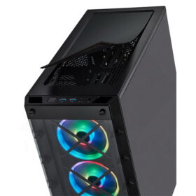 CORSAIR iCUE 465X RGB Airflow Tempered Glass Smart Case Black 7