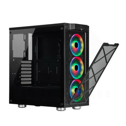 CORSAIR iCUE 465X RGB Airflow Tempered Glass Smart Case Black 9