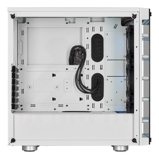 CORSAIR iCUE 465X RGB Airflow Tempered Glass Smart Case White 3