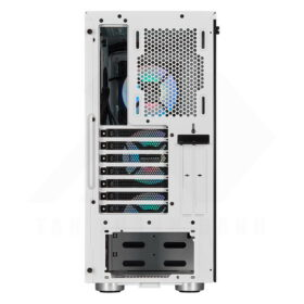 CORSAIR iCUE 465X RGB Airflow Tempered Glass Smart Case White 4