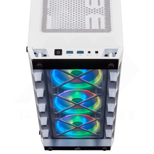 CORSAIR iCUE 465X RGB Airflow Tempered Glass Smart Case White 5a