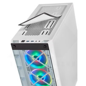 CORSAIR iCUE 465X RGB Airflow Tempered Glass Smart Case White 6