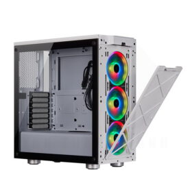 CORSAIR iCUE 465X RGB Airflow Tempered Glass Smart Case White 8