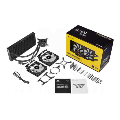 CORSAIR iCUE H100i RGB PRO XT Liquid CPU Cooler 4