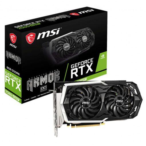 MSI Geforce RTX 2060 SUPER ARMOR OC 8G Graphics Card 1