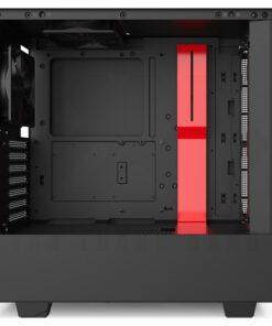 NZXT H510 Case Matte Black Red 2