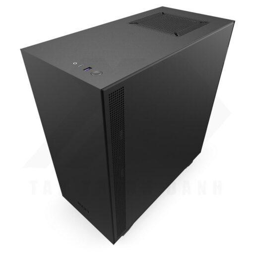 NZXT H510 Case Matte Black Red 3
