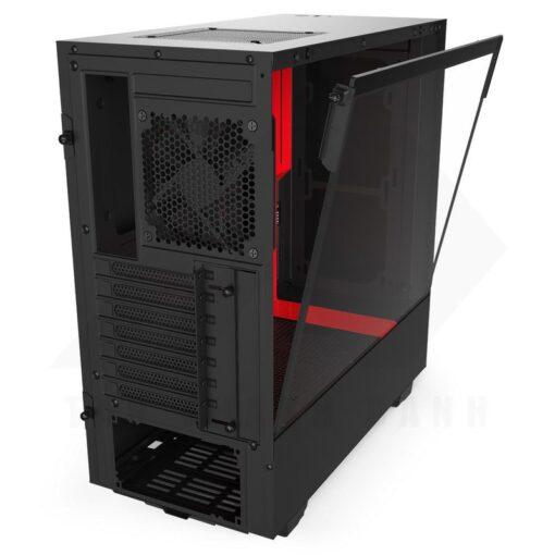 NZXT H510 Case Matte Black Red 4