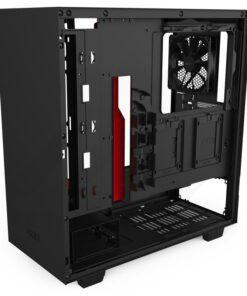 NZXT H510 Case Matte Black Red 5