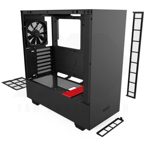 NZXT H510 Case Matte Black Red 6