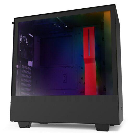 NZXT H510i Case Matte Black Red 1