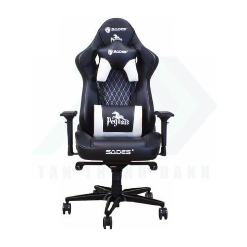 SADES Pegasus Gaming Chair Black White TTD 001