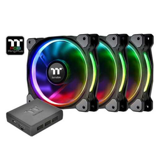 Thermaltake Riing Plus RGB 120mm PWM Fan – Triple Pack With Controller