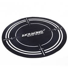 akracing floor mat black
