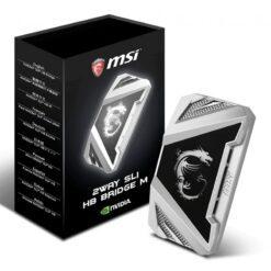 MSI 2WAY SLI HB Bridge M – Silver 60mm 1 slot spacing 1