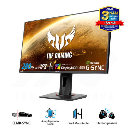 ASUS TUF Gaming VG279QM Monitor 27 FHD 280Hz 1ms MPRT Fast IPS Panel G Sync Compatible DisplayHDR 400 2