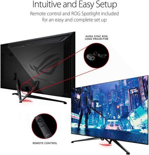 ASUS ROG Swift PG65UQ Big Format Gaming Monitor 6