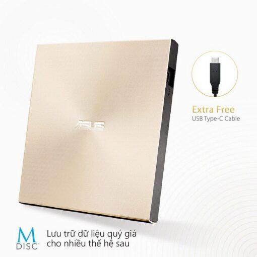 ASUS ZenDrive U9M Portable External ODD Gold