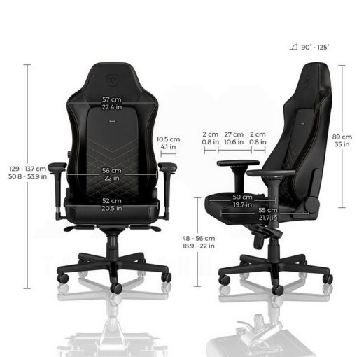 Noblechairs HERO Series Gaming Chair Black Gold 4