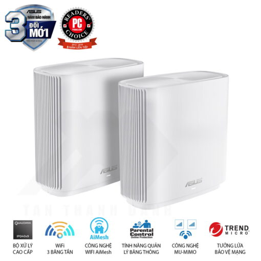 ASUS ZenWiFi AC System CT8 2 Pack Routers White