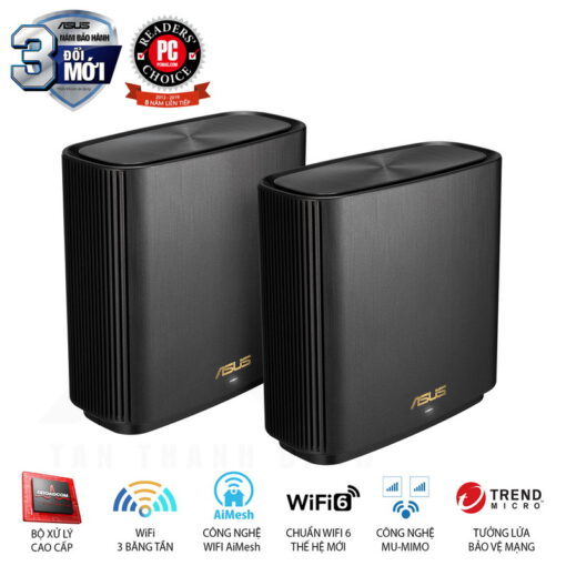 ASUS ZenWiFi AX System XT8 2 Pack Routers Black