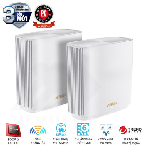 ASUS ZenWiFi AX System XT8 2 Pack Routers White
