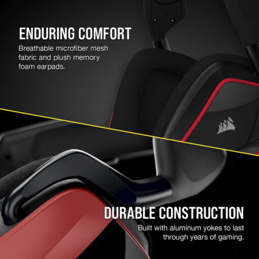 CORSAIR VOID ELITE Premium Gaming Headset Cherry 4