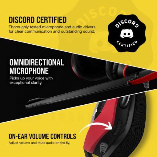 CORSAIR VOID ELITE Premium Gaming Headset Cherry 5