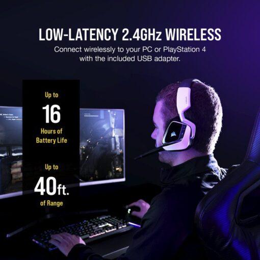 CORSAIR VOID RGB ELITE Wireless Headset White 5