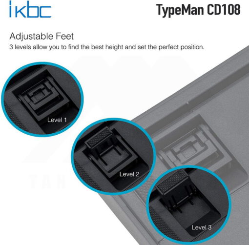 ikbc TypeMan CD108 PBT Doubleshot V2 Keyboard 6