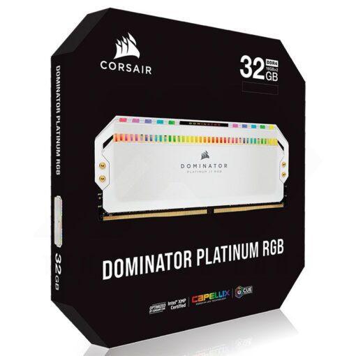 CORSAIR DOMINATOR PLATINUM RGB Memory Kit White 7