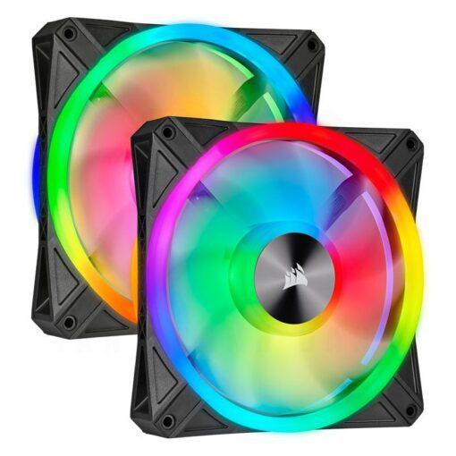 CORSAIR iCUE QL140 RGB Fan – Dual Fan Kit With Lightning Node CORE 1