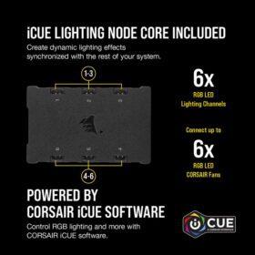 CORSAIR iCUE QL140 RGB Fan – Dual Fan Kit With Lightning Node CORE 4
